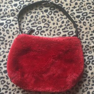 Fuzzy Red Purse